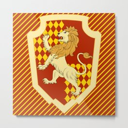 HP Striped Gryffindor house crest Metal Print