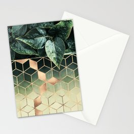 Leaves And Cubes 2 Stationery Cards