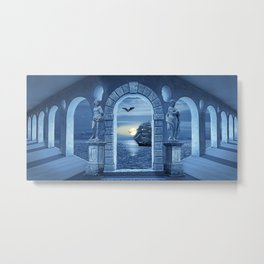Mysterious Orangery Metal Print
