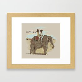 In Pachydermic Fashion Framed Art Print