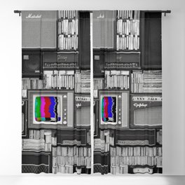 Tv - Wall - Vintage - Television - Amp - Amplifier - Sound. Little sweet moments. Blackout Curtain