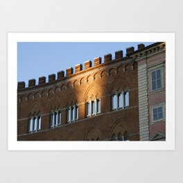 Piazza del Campo, Siena Art Print