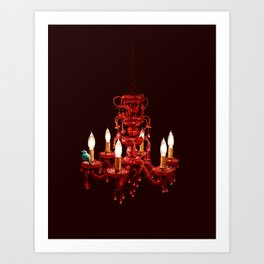 Crimson Perch Art Print