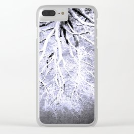 Twisted Perception gray Clear iPhone Case
