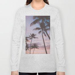Pastel Palm Trees Long Sleeve T-shirt