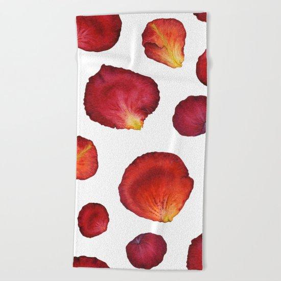 Rose Petal Pattern 03 Beach Towel