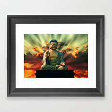 Buddha Sunrise Framed Art Print
