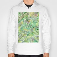 tropical Hoodies featuring Tropical Green by Cat Coquillette