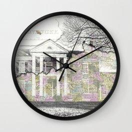 Kentucky Travel Map Lancaster Wall Clock