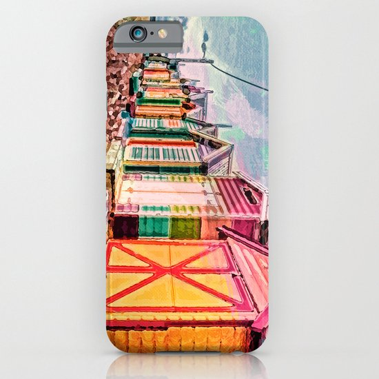Painted Beach Huts iPhone & iPod Case
