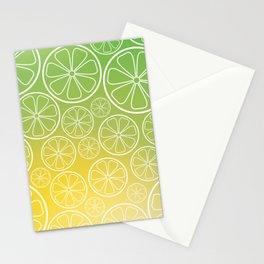 Citrus slices (green/yellow) Stationery Cards