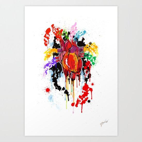 Bleed Creation Art Print