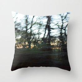 Speedy Trees Throw Pillow
