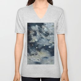 Dark Galaxy1 watercolour by CheyAnne Sexton Unisex V-Neck
