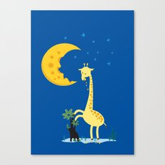 The Delicious Moon Cheese Canvas Print