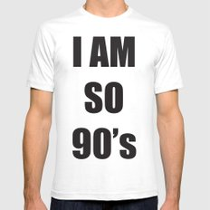 i am so 90's SMALL White Mens Fitted Tee