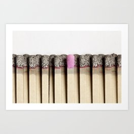 Odd match out Art Print