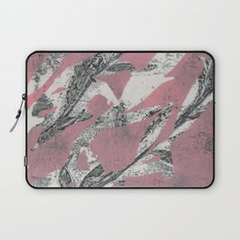 Pink Leaves Abstract Laptop Sleeve