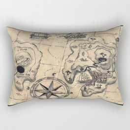 Old Nautical Map Rectangular Pillow