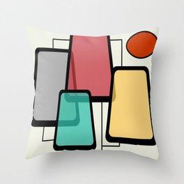 Mid-Century Modern Art Landscape 1.1 Throw Pillow