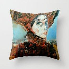 Dama Cosmopolita Throw Pillow