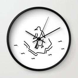 penguin floe Antarctic Wall Clock