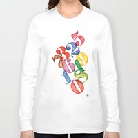 numbers Long Sleeve T-shirts featuring Numbers by Resistenza