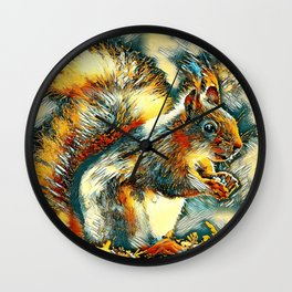 AnimalArt_Squirrel_20171201_by_JAMColorsSpecial Wall Clock