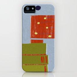 blue wall, purple tree iPhone Case