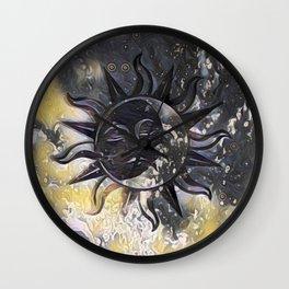 Day Dream Sun Moon Wall Clock