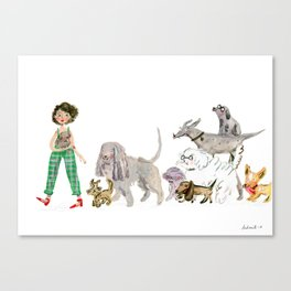 Doggy happiness Canvas Print