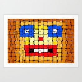 Pixelgesicht. Art Print