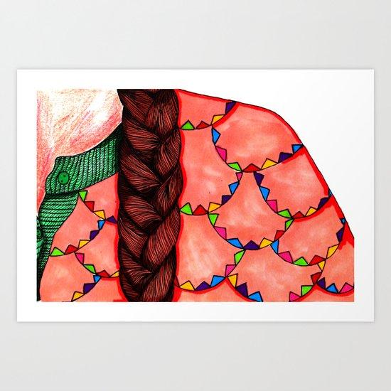 Braid & Bunting Sweater Art Print