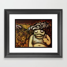 Don't look behind you Framed Art Print