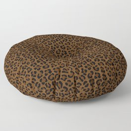 Leopard Print - Dark Floor Pillow