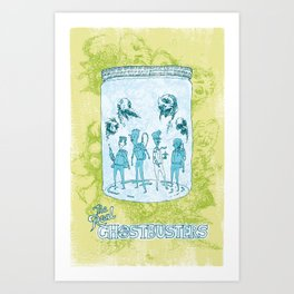 The Real Ghostbusters in a Jam Jar Art Print