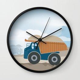 Dump Truck Full Color Wall Clock