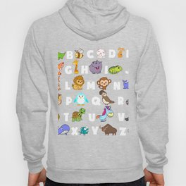 Animal In Alphabetical Order ABCD T-shirt Design Spirit Animal Representation School Learn Study Hoody
