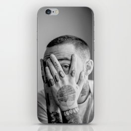 Mac Miller Black And White Portrait iPhone Skin