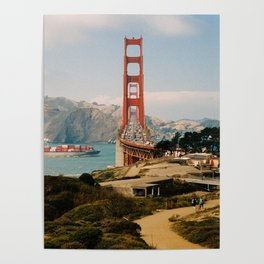 Golden Gate Bridge shot on film Poster