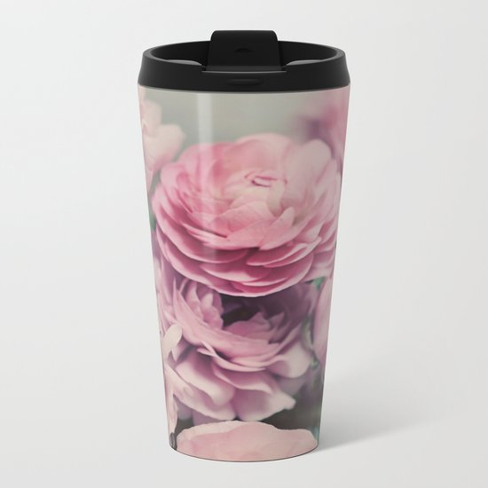 quiet ranunculus Metal Travel Mug