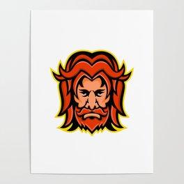Baldr Norse God Mascot Poster