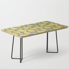 Leaves in Yellow and Grey Pattern Coffee Table