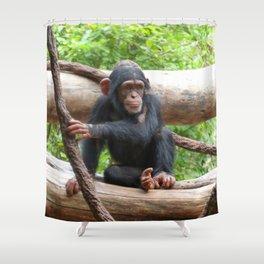 Chimpanzee_20150503_by_JAMFoto Shower Curtain