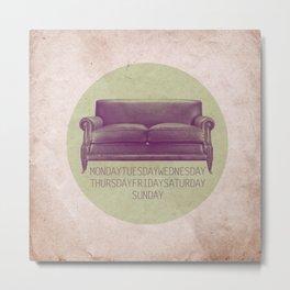 sofa week Metal Print