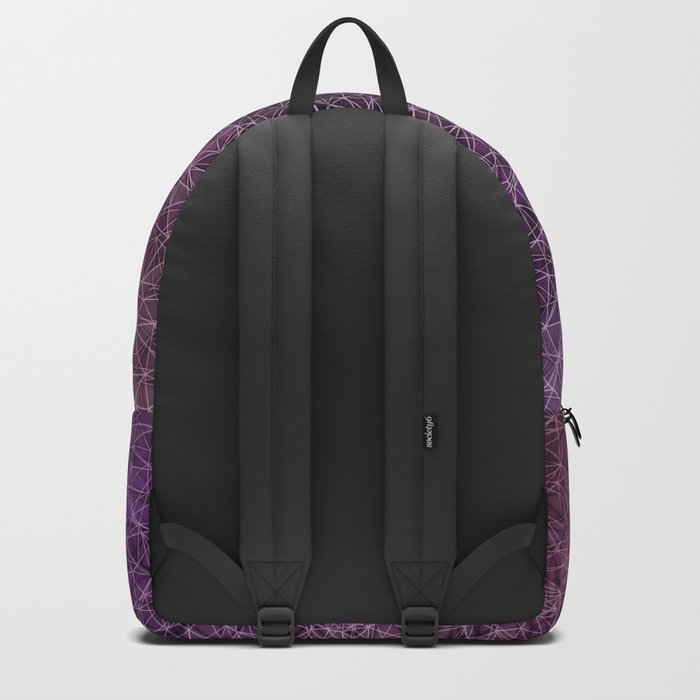 Mesh polygonal purple and pink Backpack