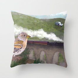 The Flying Car Throw Pillow