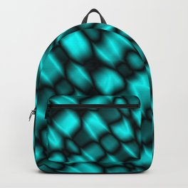 Drops in a light blue diagonal along the surface of the water on a metal film Backpack