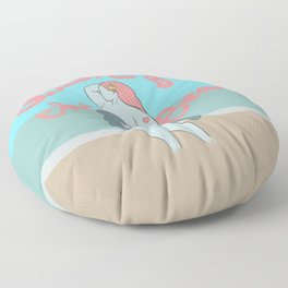 Queen of the beach Floor Pillow