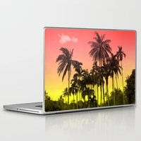 tropical Laptop & iPad Skins featuring palm tree  by mark ashkenazi